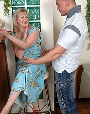 Mom with a yummy round butt getting attacked by a hung anal-addicted stud