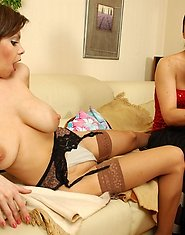 Young gal getting drunk before girl-on-girl action with experienced milf