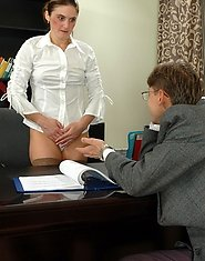 Horny guy loves to hook curvy mature chick in office and fucking non-stop
