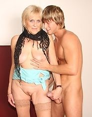 The older hooker is picked up by a horny young man and her body is violated