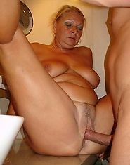 Hot GILF rides a cock and gets her huge tits fucked