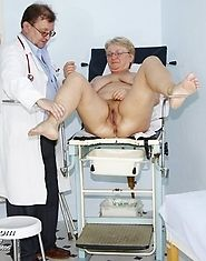Mature fat Radka has pussy checked by experienced gyno doctor