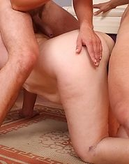 Granny swallows dick and then is banged hard