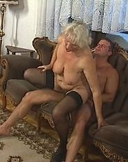 Horny old women have an orgy in the parlor