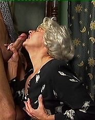 Blonde oldy spreads her legs for a fucking